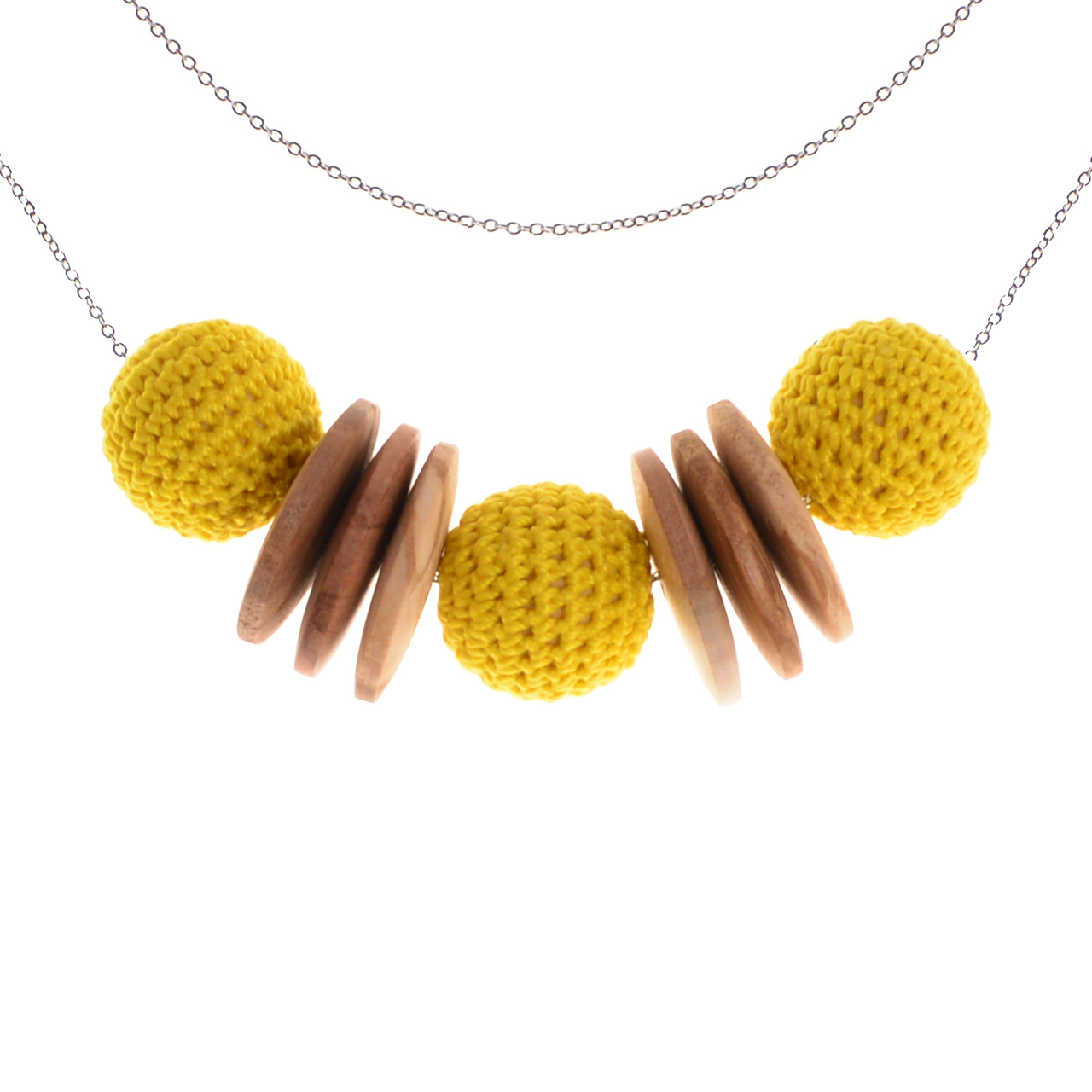 Mon Bijou - Necklace Elegance Nature - Yellow | The Design Gift Shop