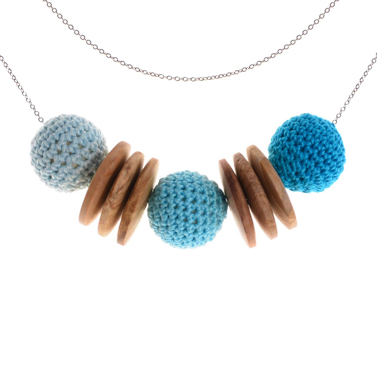 Mon Bijou - Necklace Elegance Nature - Blue Hues | The Design Gift Shop