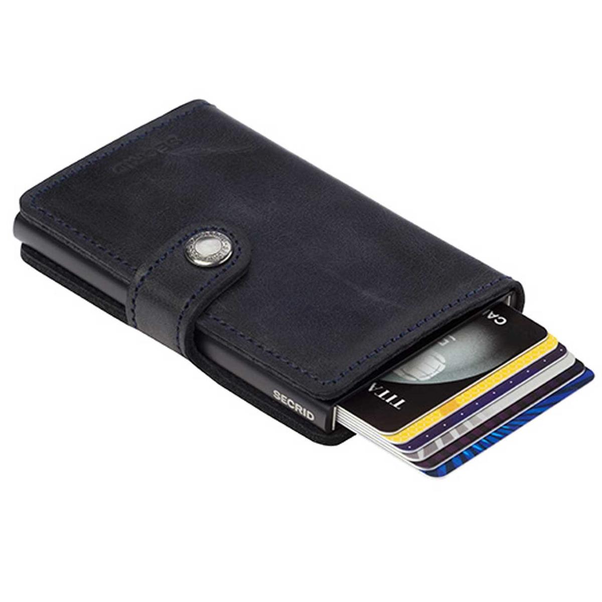 Secrid miniwallet vintage black leather | The Design Gift Shop