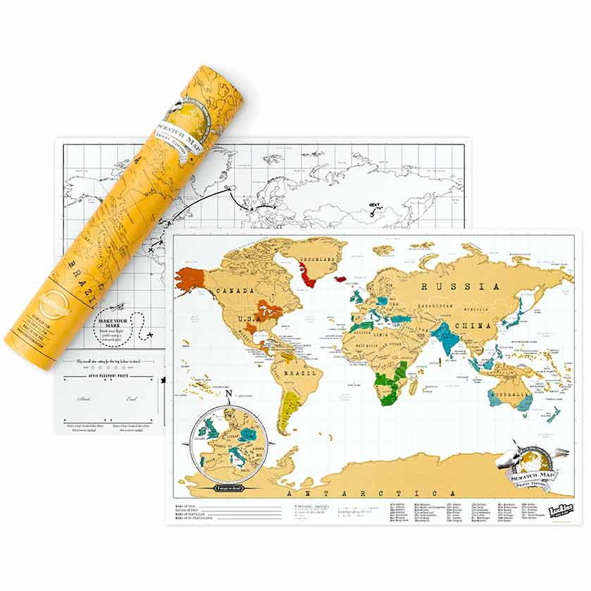 Scratch World Map - Travel Edition | the design gift shop