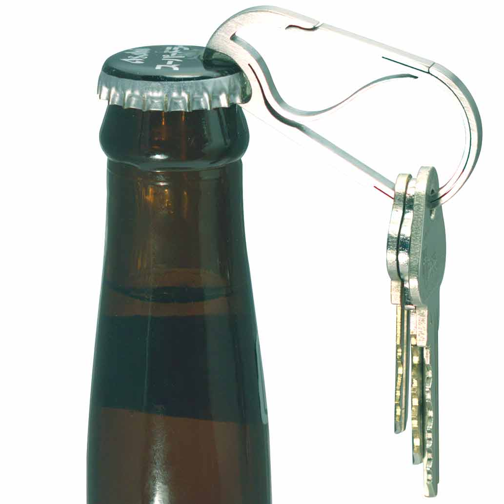 Bico Keyklipz Keyring Bottle Opener in Stone Finish | The Design Gift Shop