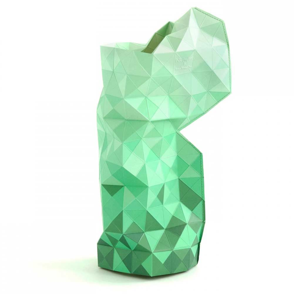 Green Paper slide on vase cover by Tiny Miracles Foundation  | The Design Gift Shop