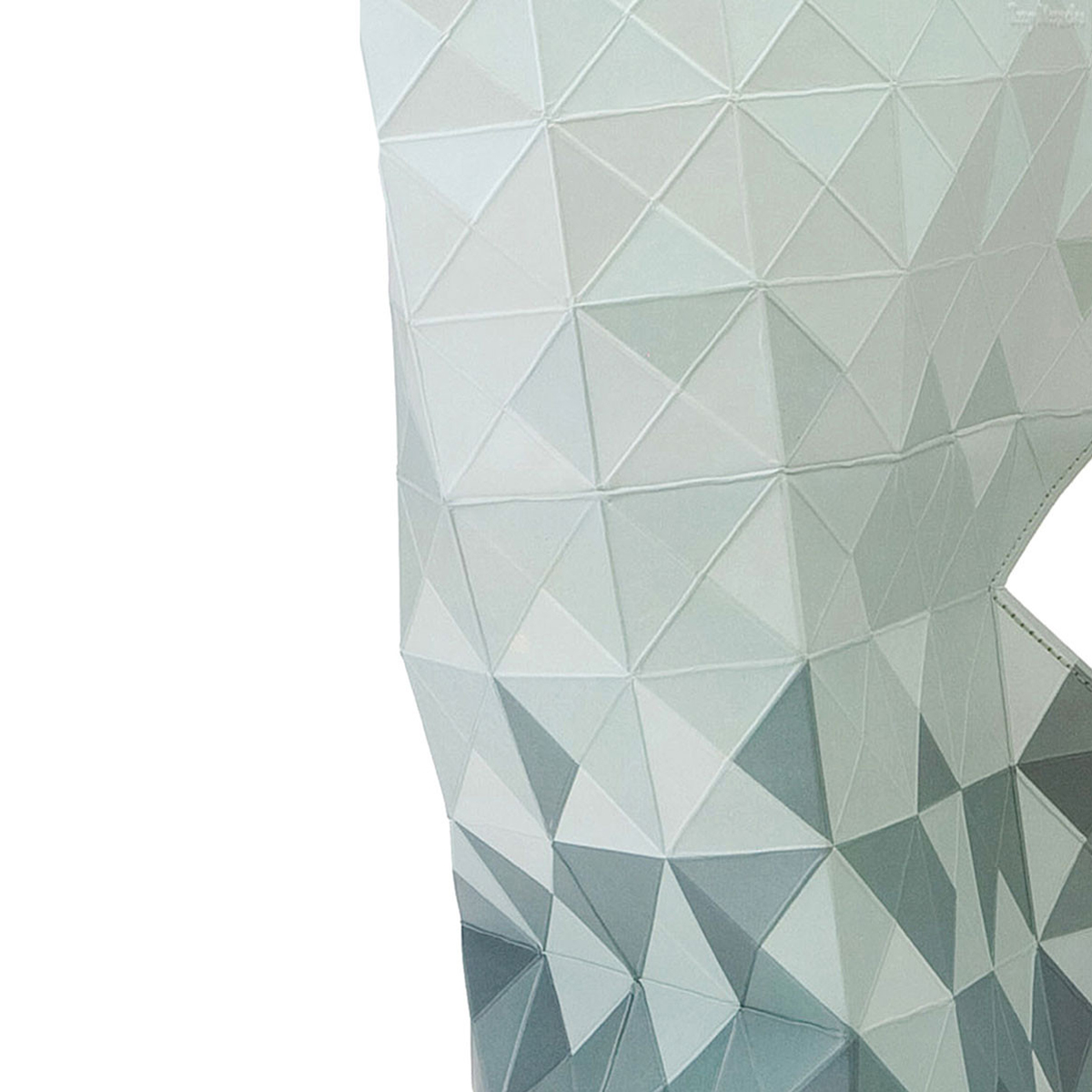 Grey Paper Vase Cover (detail) | The Design Gift Shop