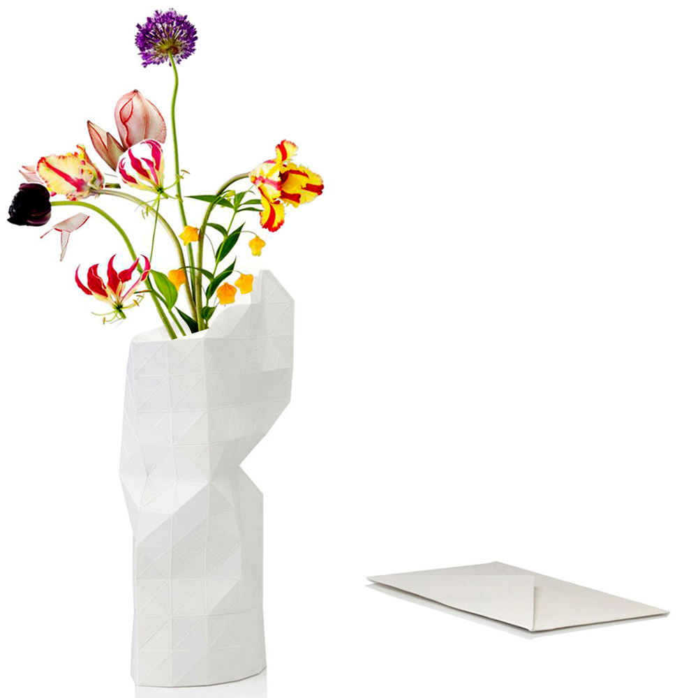 White Paper slide on vase cover by Tiny Miracles Foundation  | The Design Gift Shop
