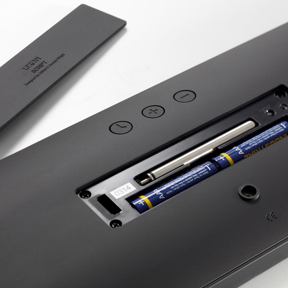 LEXON LR134 SCRIPT CLOCK XL - black   The Design Gift Shop