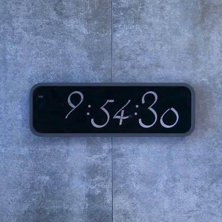 LEXON LR134 SCRIPT CLOCK XL - black | The Design Gift Shop