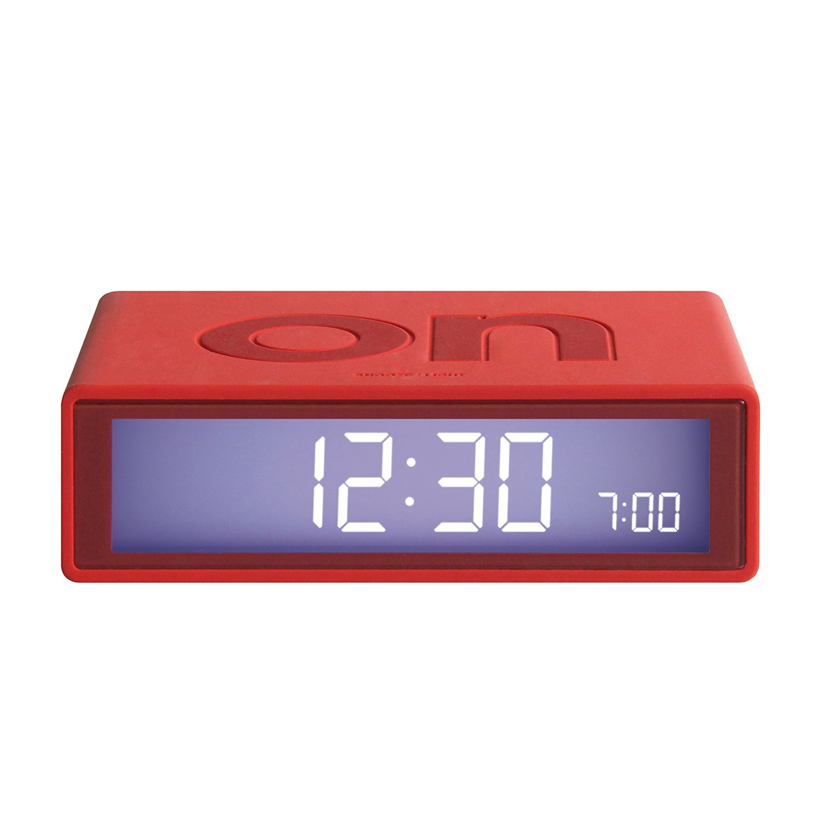 LEXON Flip LCD alarm clock LR130 red | The Design Gift Shop