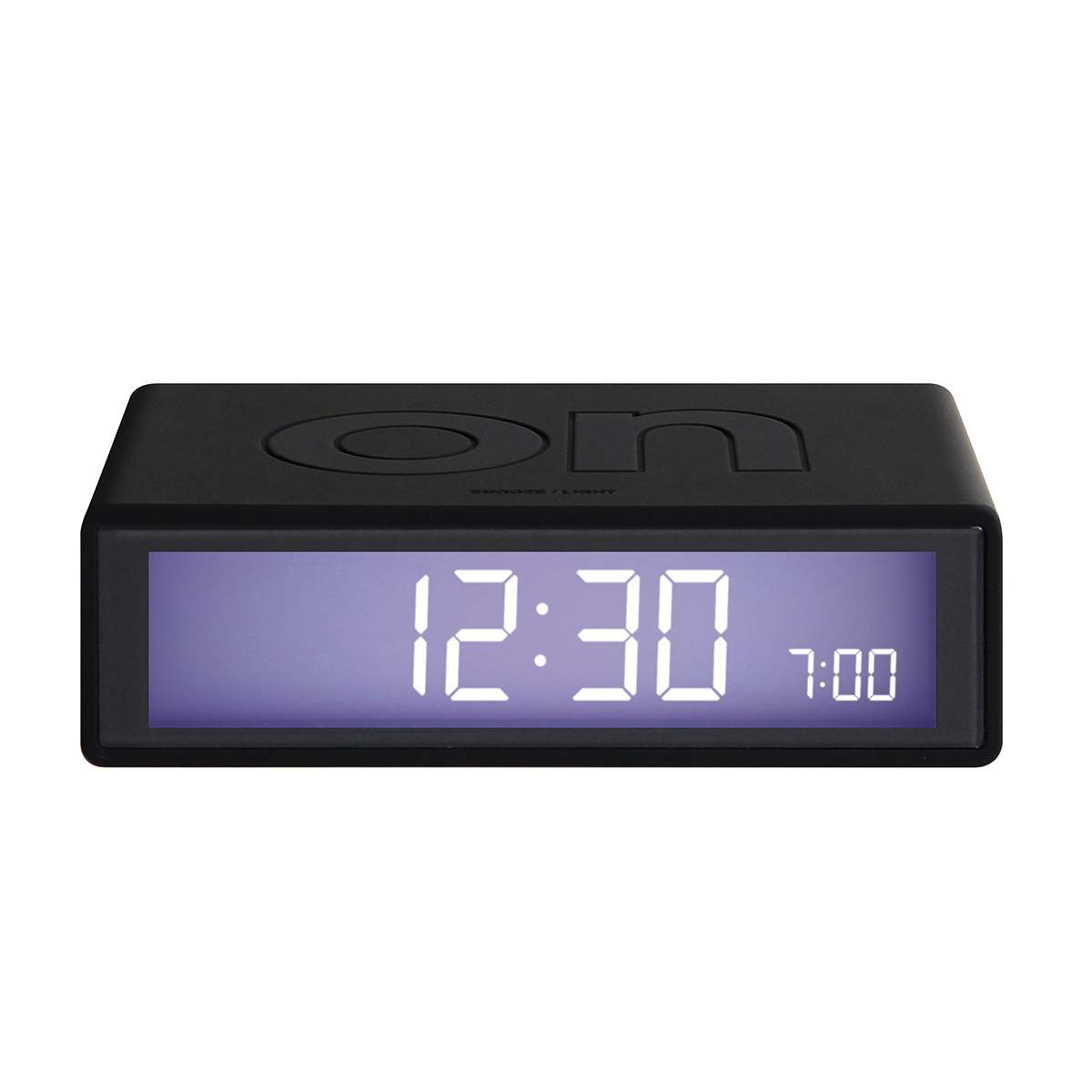 LEXON Flip LCD alarm clock LR150 black | The Design Gift Shop
