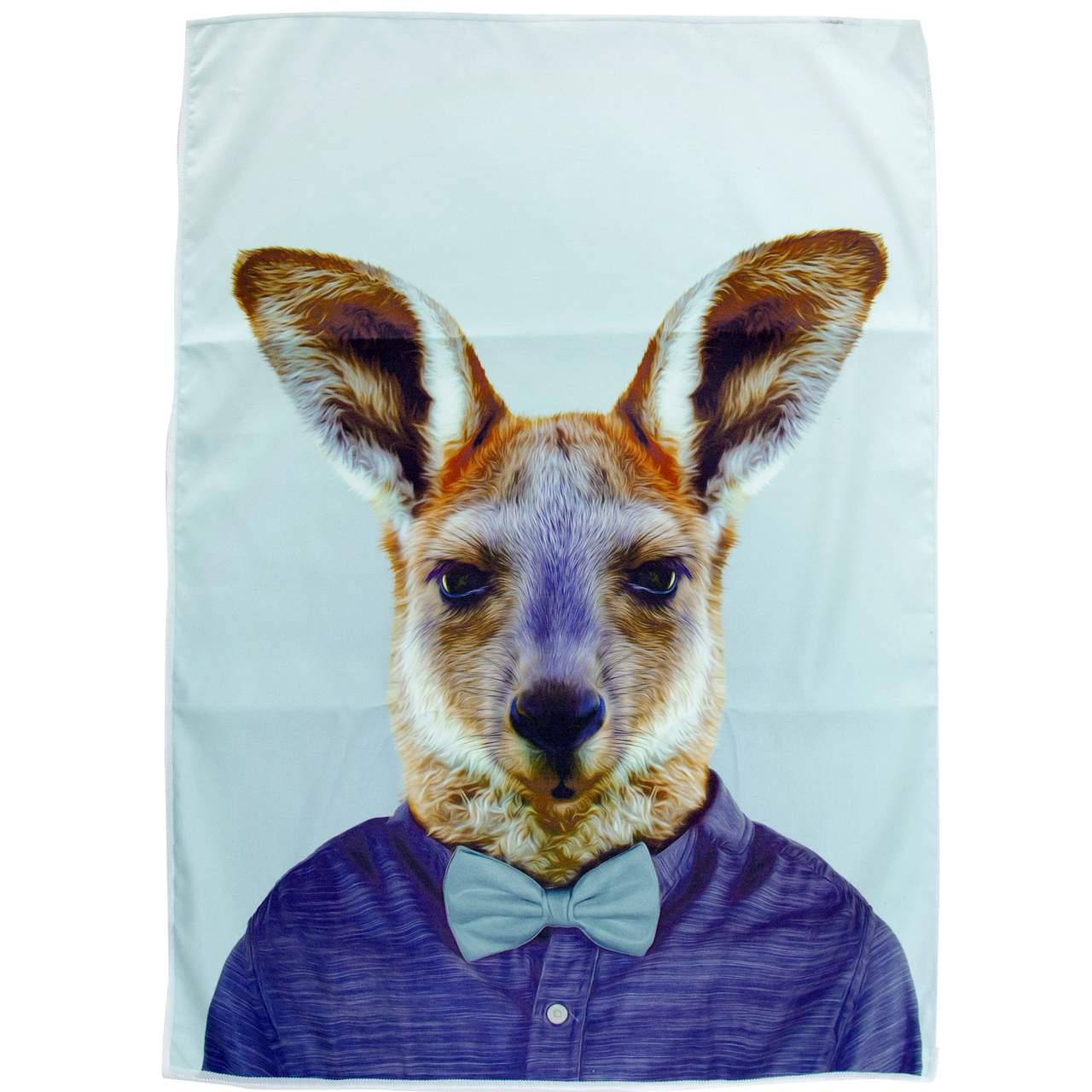 Tea Towel Kangaroo from the Zoo Portraits   The Design Gift Shop