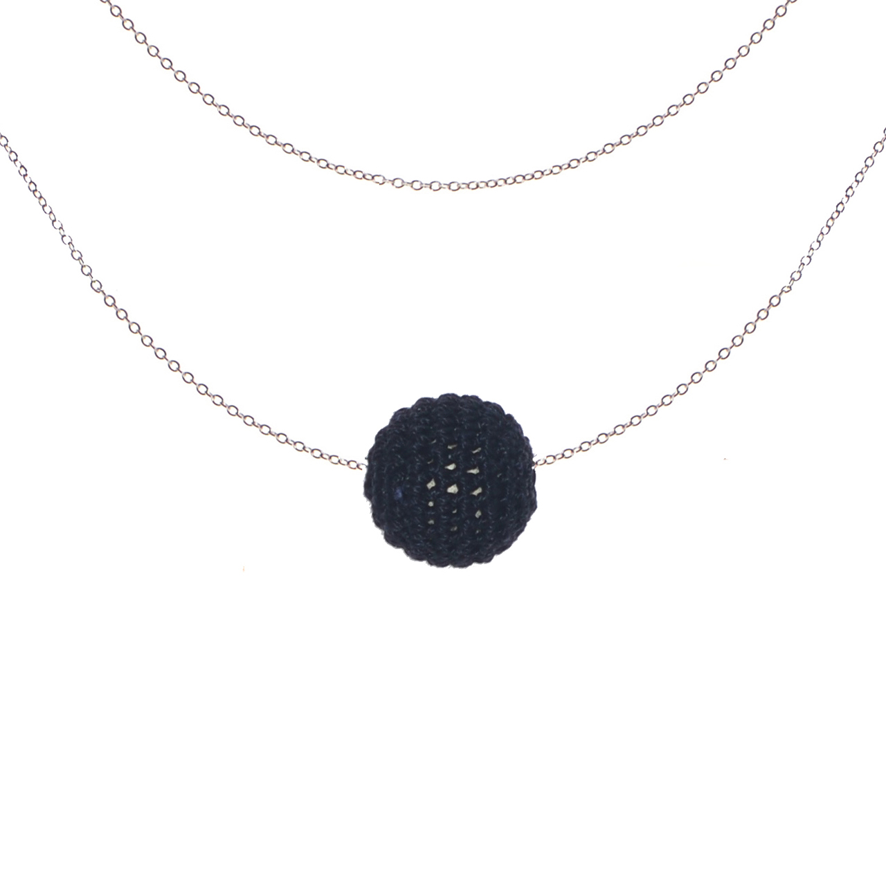 Mon Bijou - Necklace Night Out 1 charcoal   The Design Gift Shop