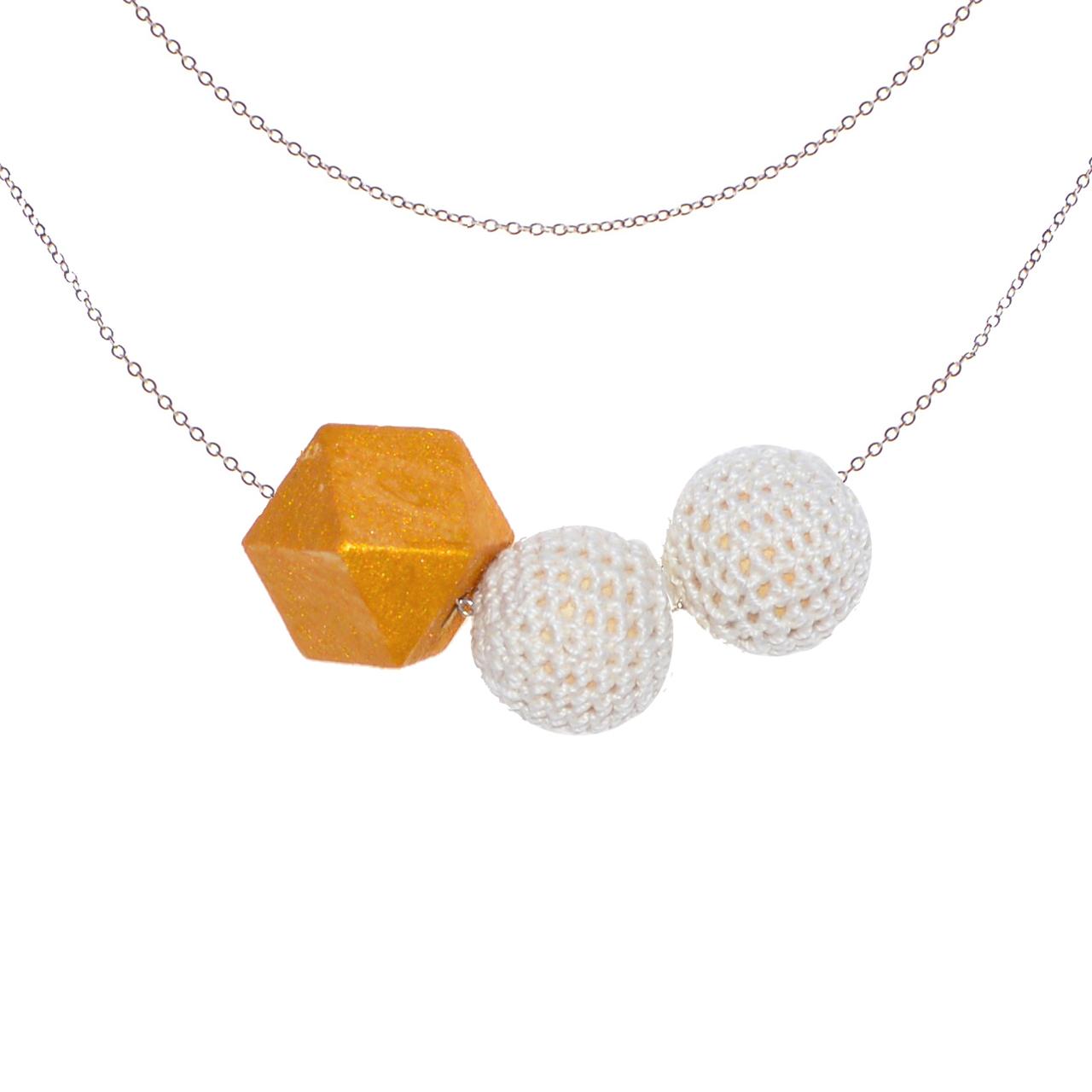 Mon Bijou - Necklace Night Out 3 white   The Design Gift Shop