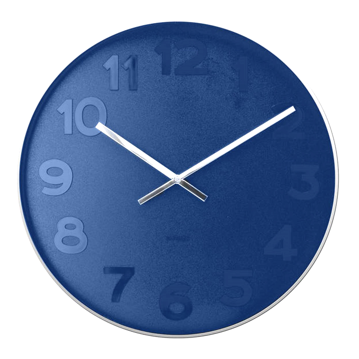 Karlsson Mr Blue numbers steel rim wall clock - Ø 51 x 7 cm   the design gift shop