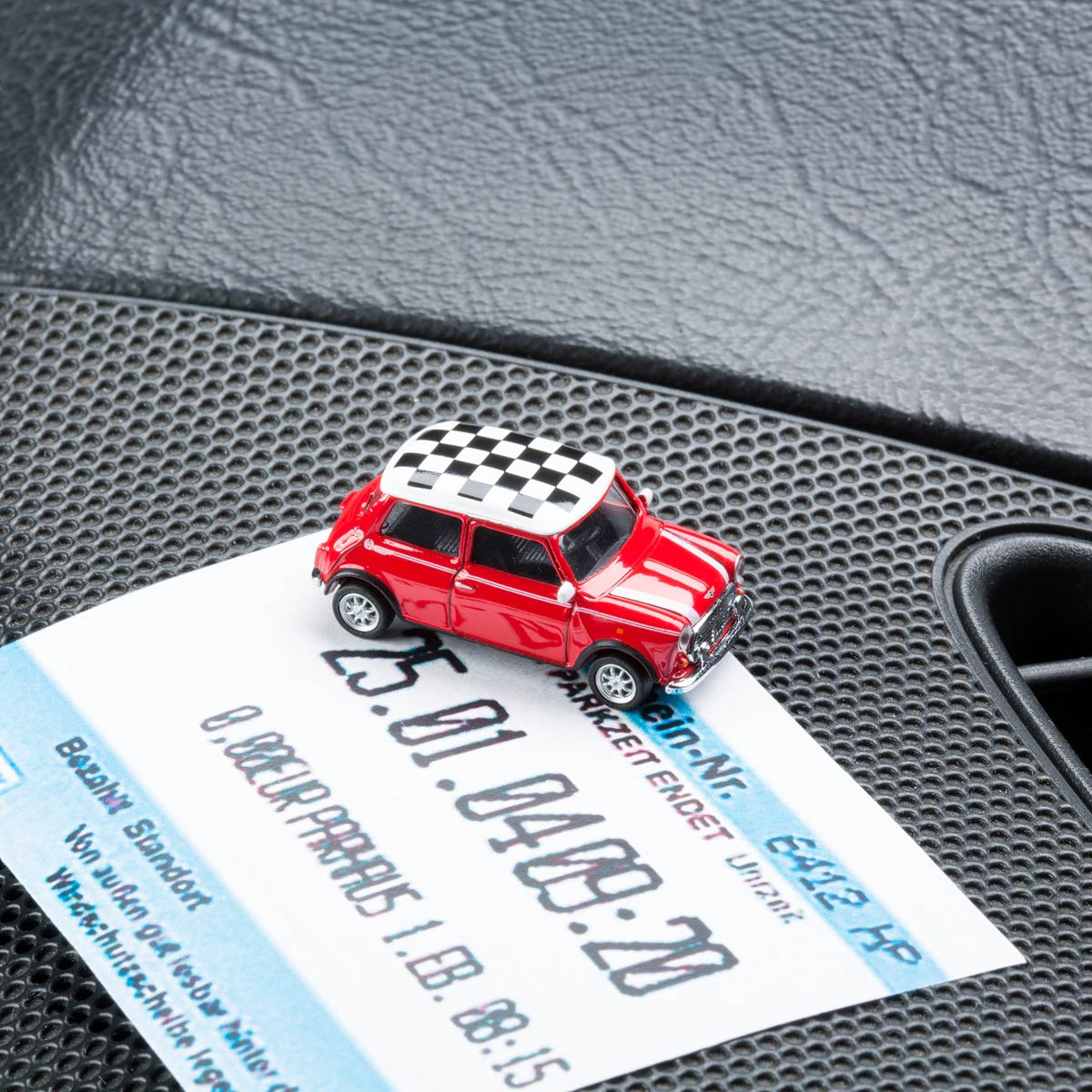 Mini Cooper with magnet as parking ticket holder   The Design Gift Shop