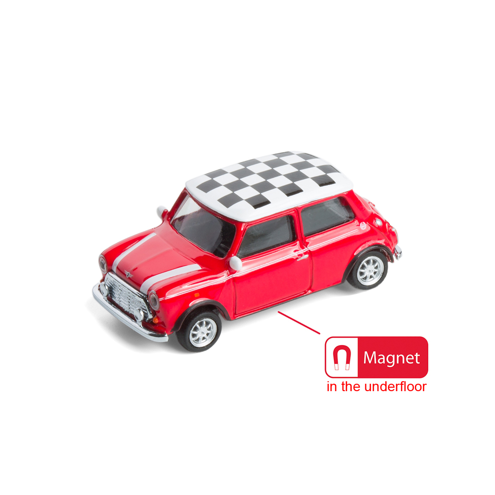 Mini Cooper die-cast with magnet in the underfloor | The Design Gift Shop