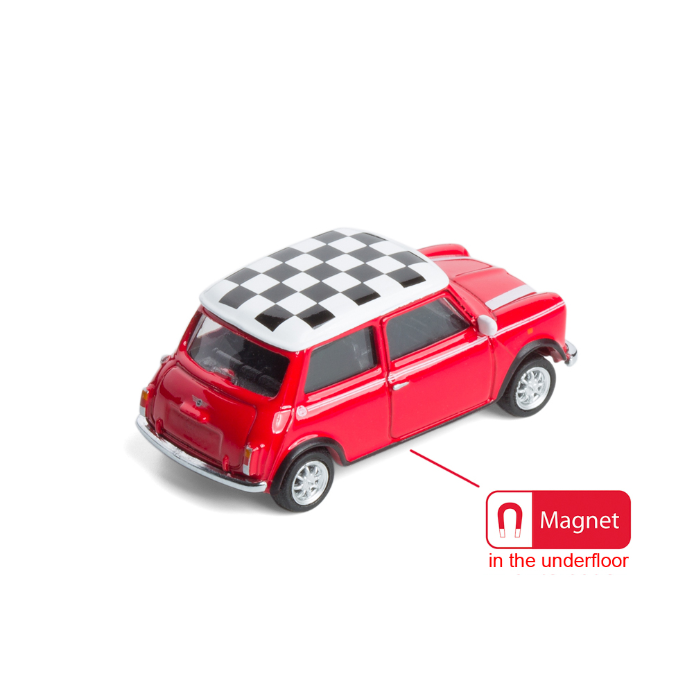 Mini Cooper die-cast with magnet in the underfloor   The Design Gift Shop