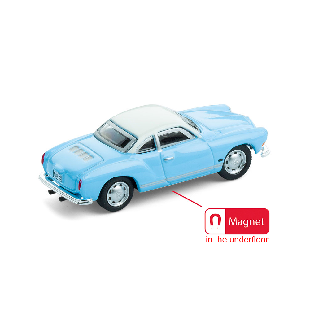 VW Karmann Ghia die-cast with underfloor magnet | The Design Gift Shop