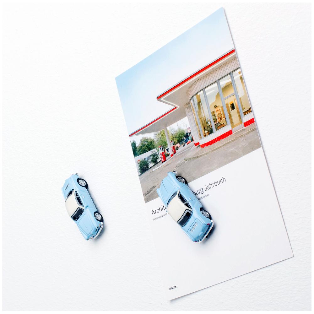VW Karmann Ghia with magnet used as fridge magnet | The Design Gift Shop
