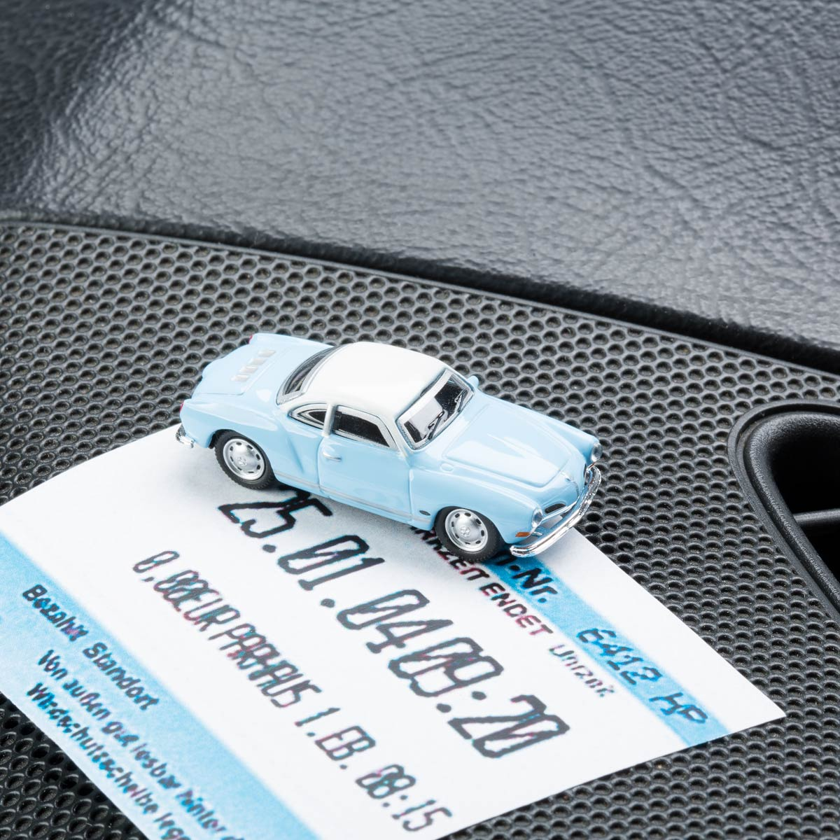 VW Karman Ghia  with magnet as parking ticket holder | The Design Gift Shop