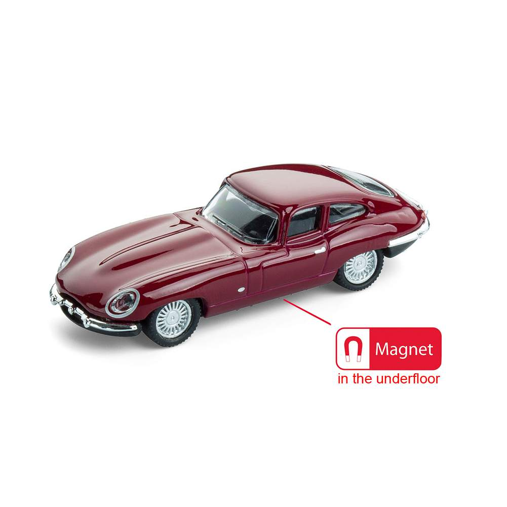 Jaguar E-Type die-cast with underfloor magnet | The Design Gift Shop