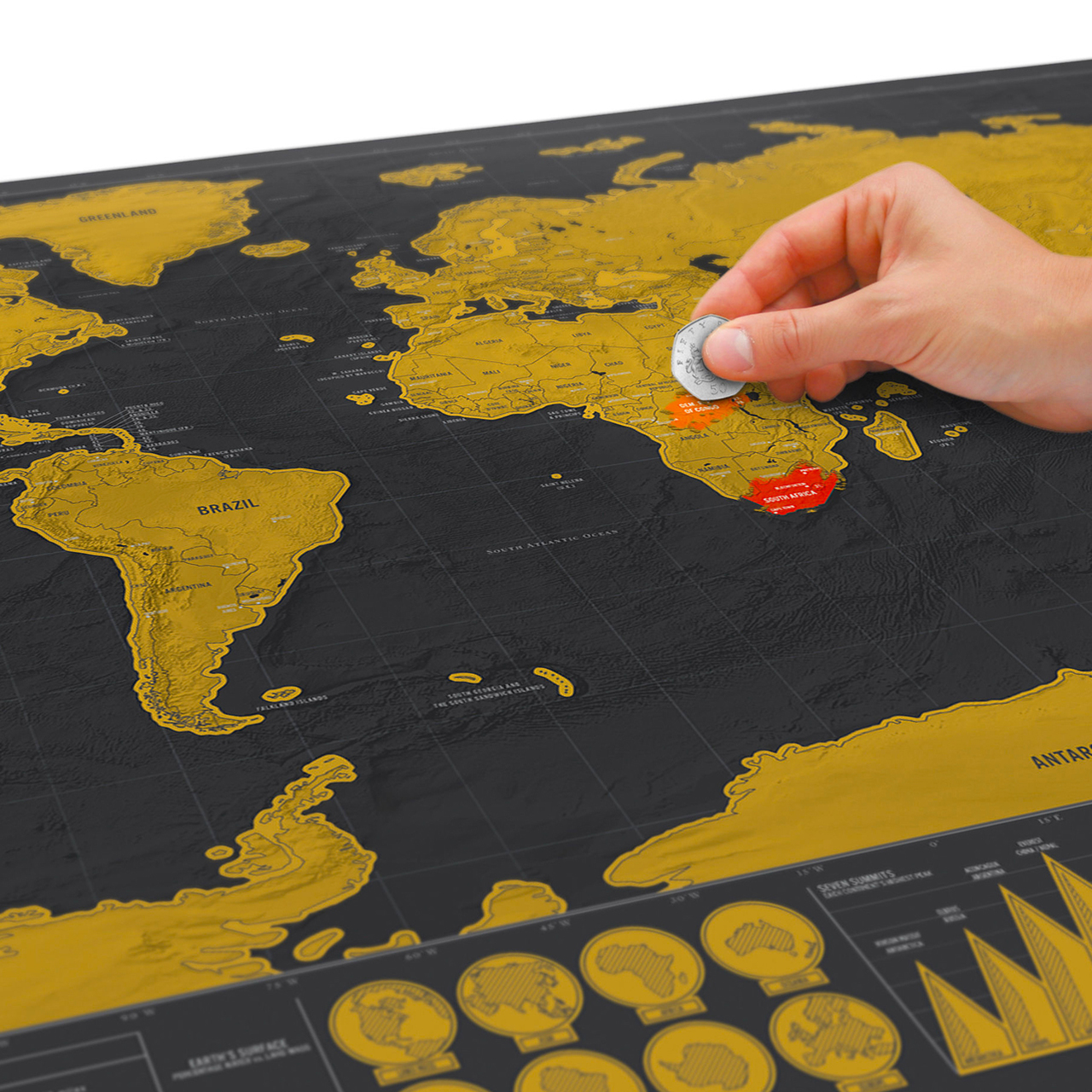 Scratch World Map - Deluxe Travel Edition | The Design Gift Shop