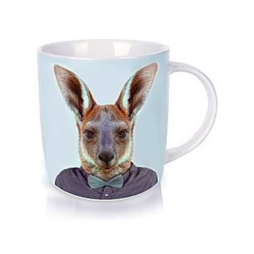 Annabel Trends Zoo Portrait Kangaroo coffee and tea mug | The Design Gift Shop