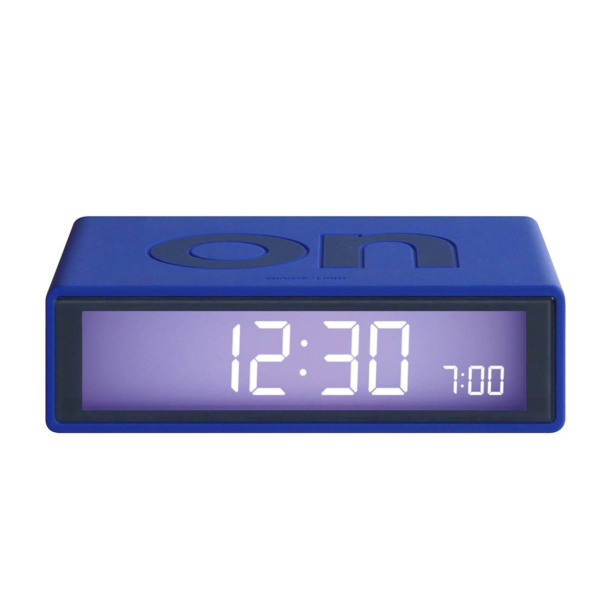 LEXON Flip LCD alarm clock LR130B6 blue   the design gift shop