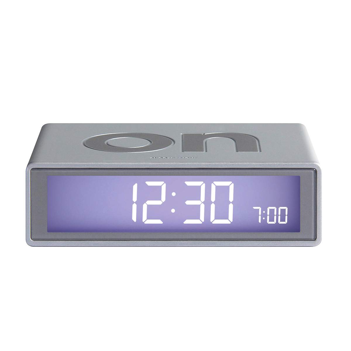 LEXON Flip LCD alarm clock LR130 alu | The Design Gift Shop