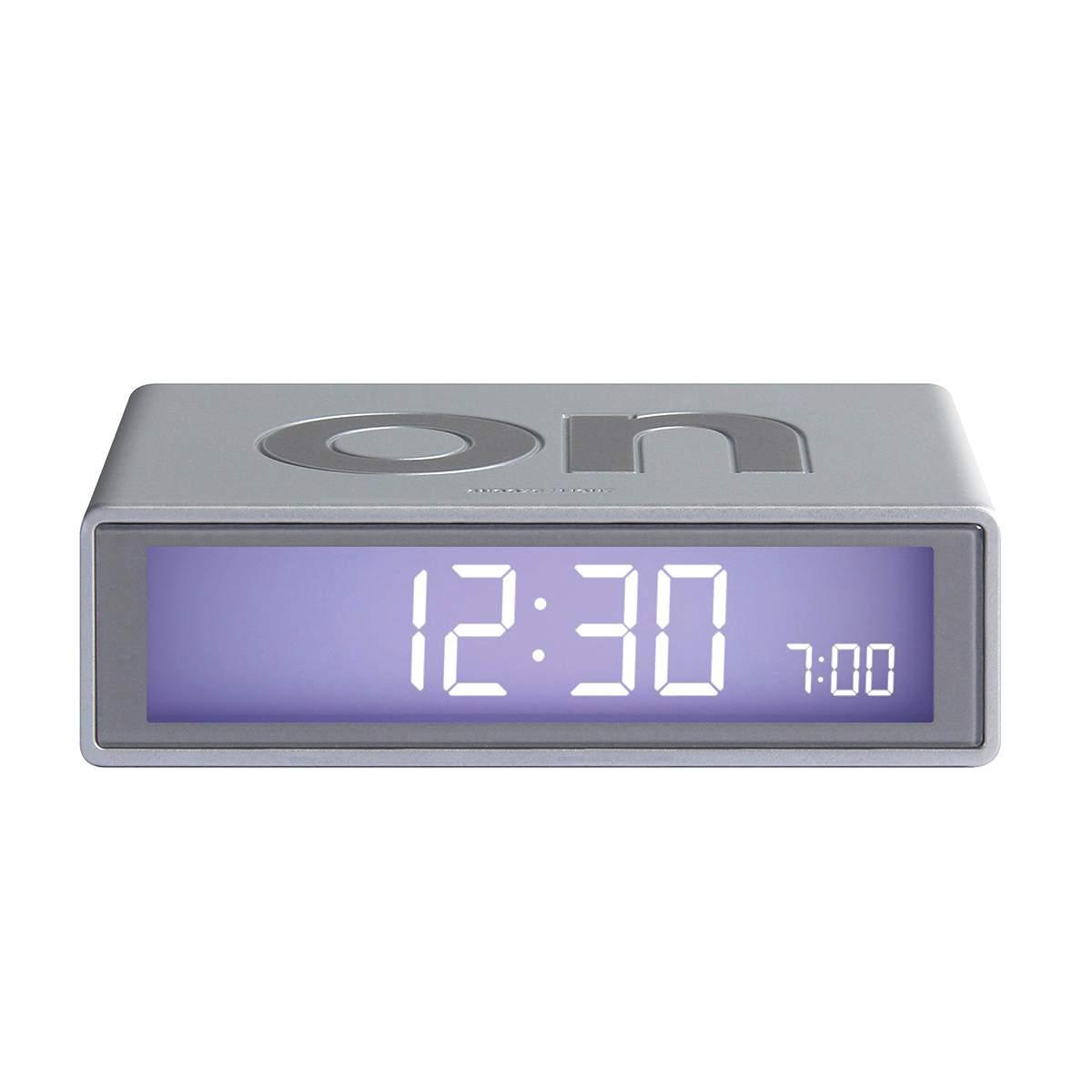 LEXON Flip+ LCD alarm clock LR150 alu | the design gift shop