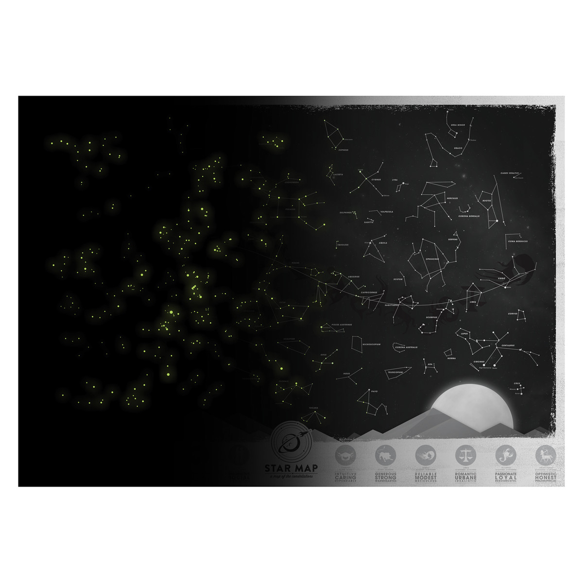 Star Map glow in the dark | The Design Gift Shop