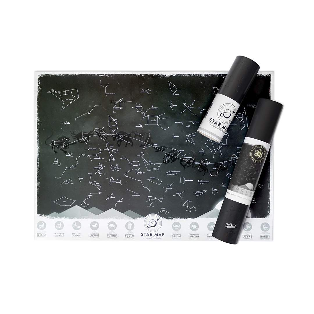 Luckies Star Map - glow in the dark | The Design Gift Shop