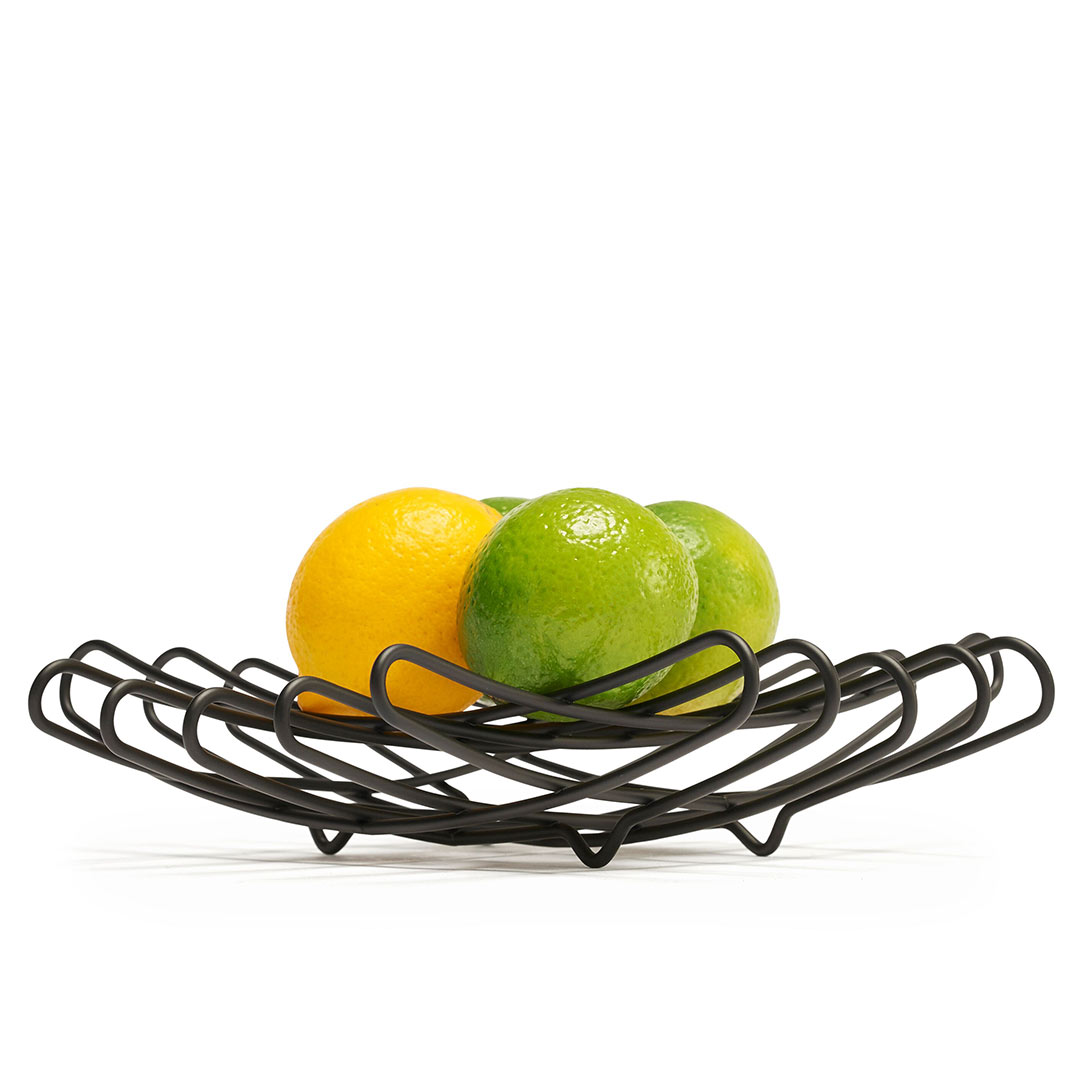bendo grid luxe fruit bowl mini black | The Design Gift Shop