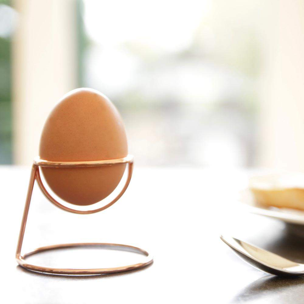 Bendo egg cup Yolk Luxe in copper | The Design Gift Shop