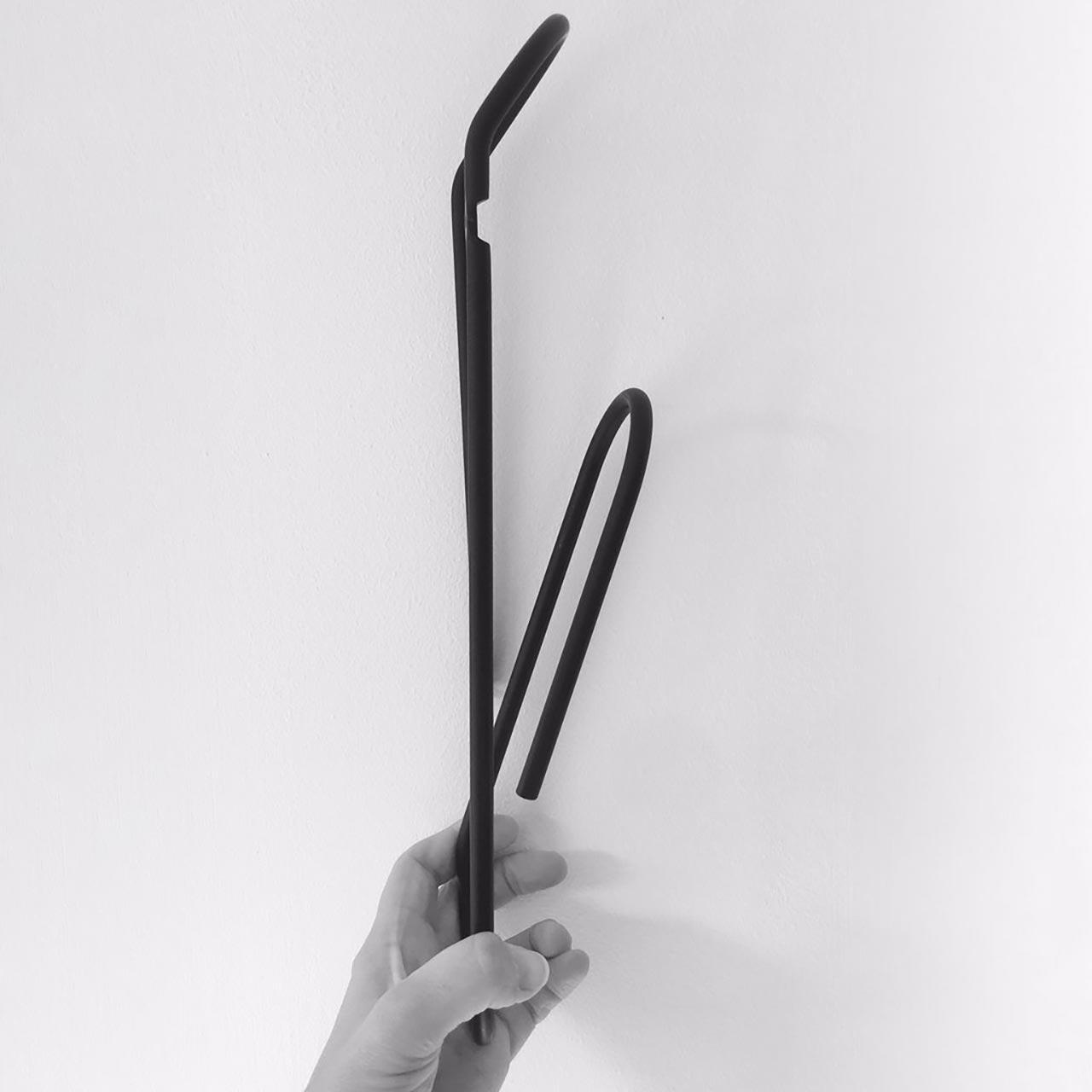 BENDO Luxe Paper Clip Coat Hook | Black, Copper, Chrome, Gold