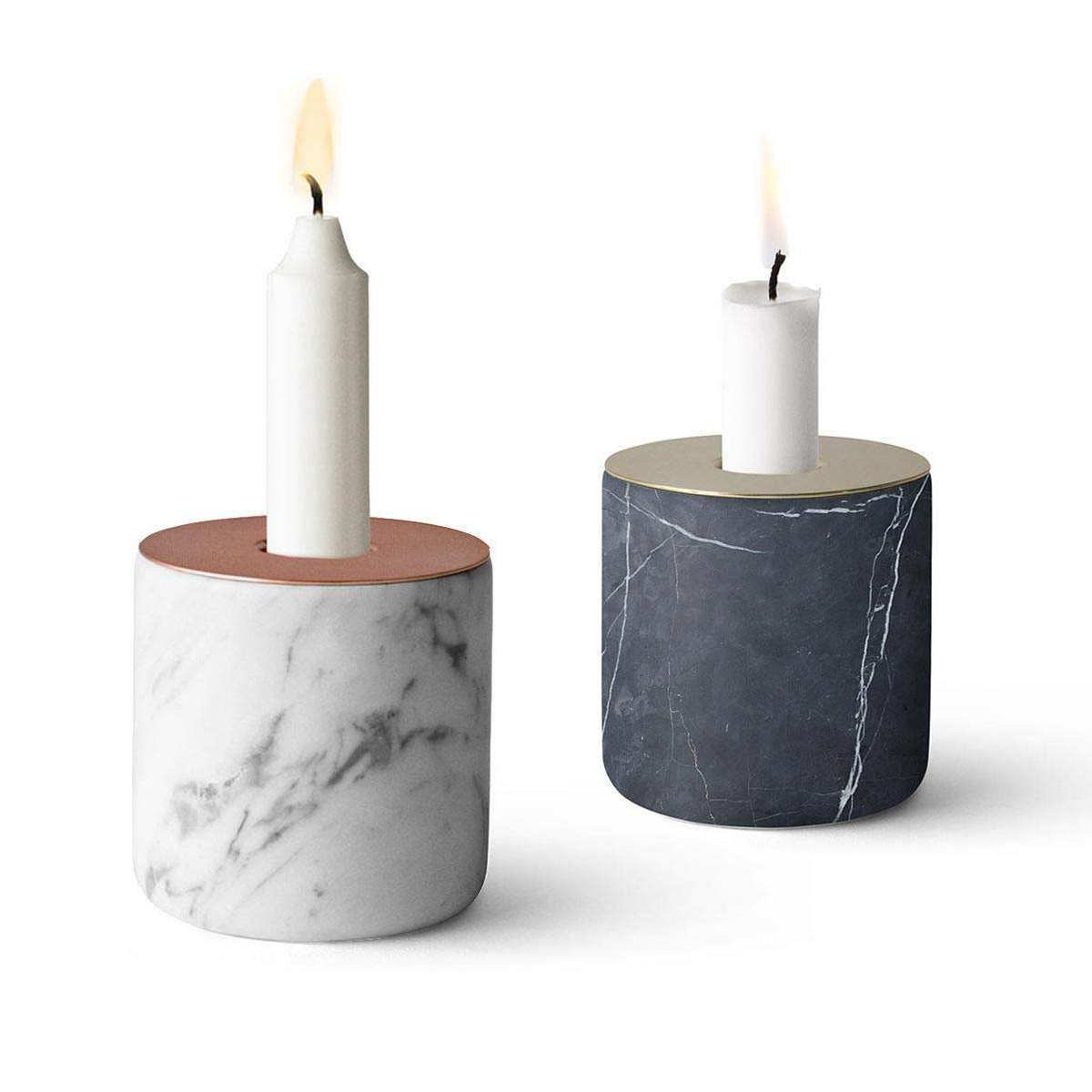 Menu Marble Candle Holder Chunk | The Design Gift Shop