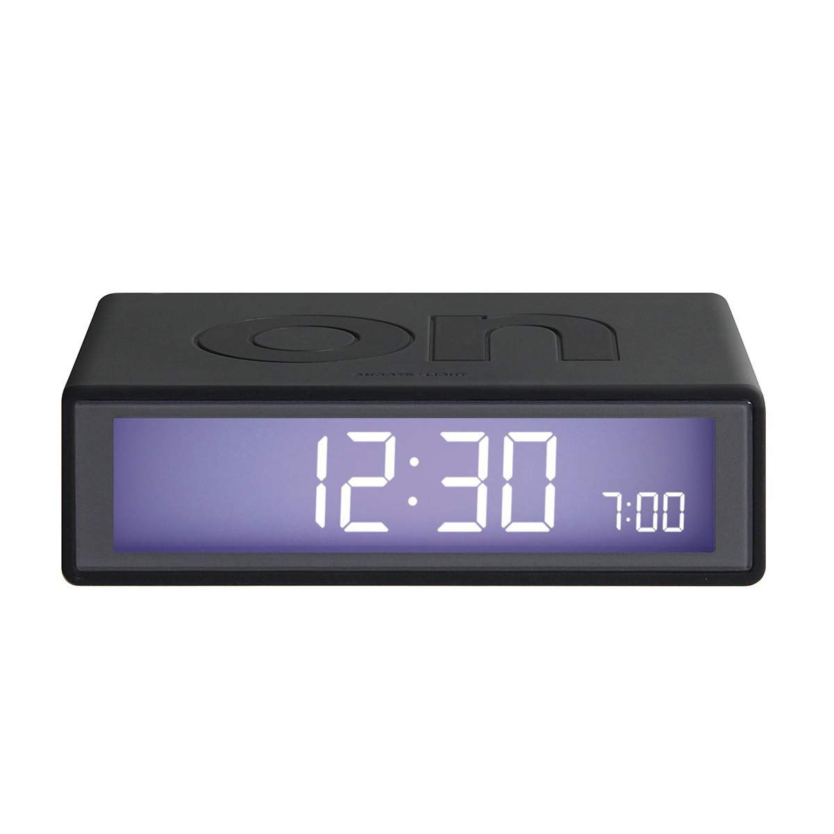 LEXON Flip LCD alarm clock LR130G3 dark grey | the design gift shop