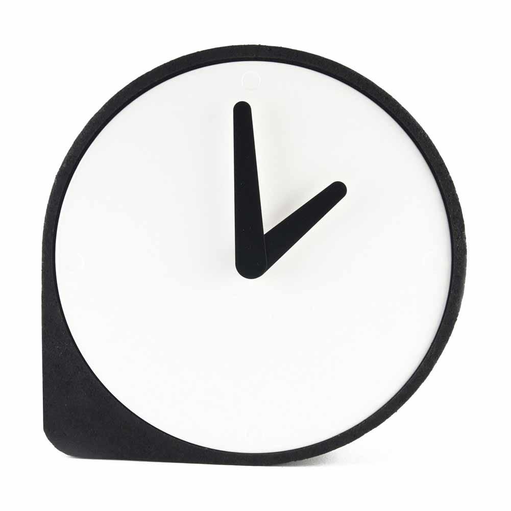 Clork by PUIKart, minimalist table or mantel clock in black cork   The Design Gift Shop