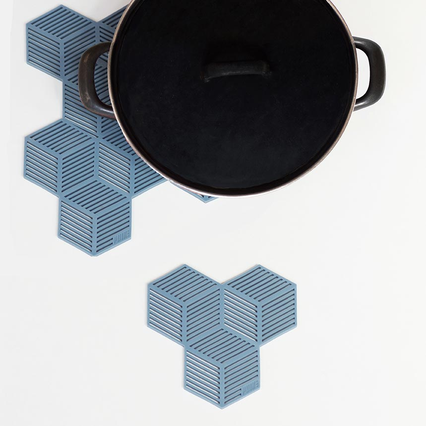 Blue Silicon Coaster Set Sico by PUIKart | The Design Gift Shop