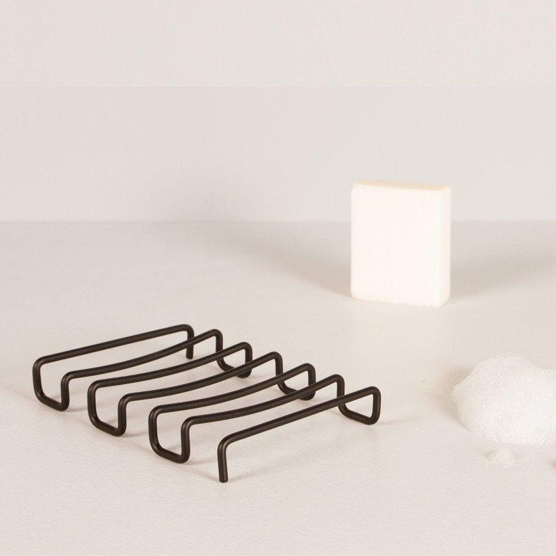 Minimalist Design Bendo Luxe Black Soap Dish Suds | The Design Gift Shop