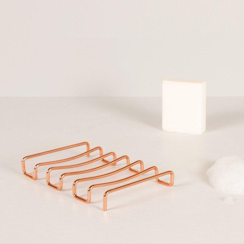 Minimalist Design Bendo Luxe Copper Soap Dish Suds | The Design Gift Shop