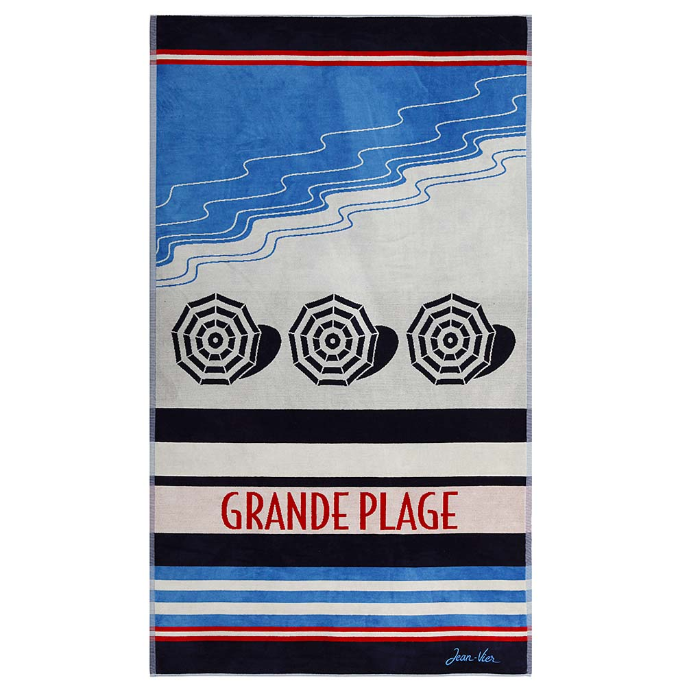Luxe Beach Towel 'Olatua - Grand Plage' by Jean-Vier | The Design Gift Shop
