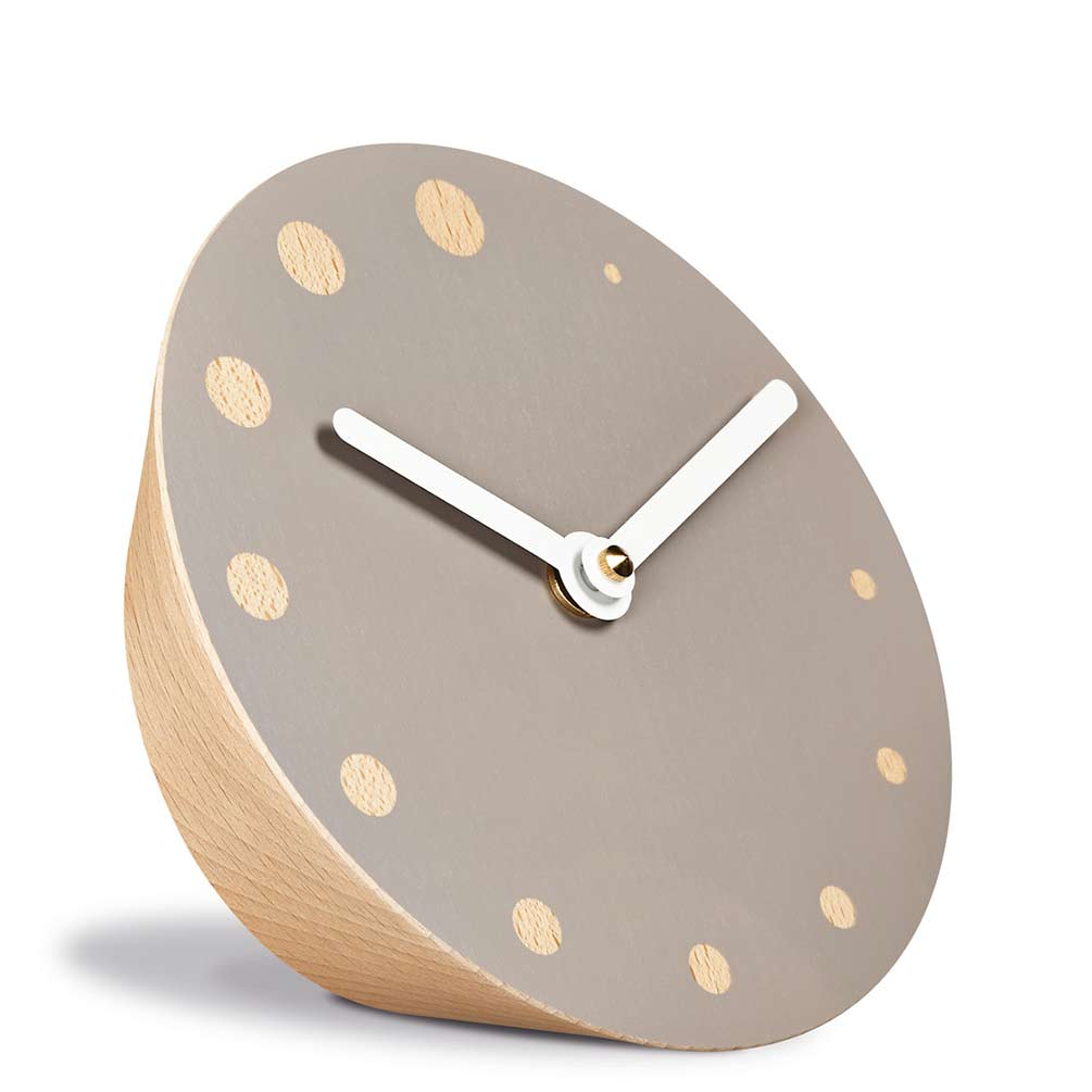 Desk and Table Clock Rockoclock by Siebensachen, crafted from Beech Wood | The Design Gift Shop