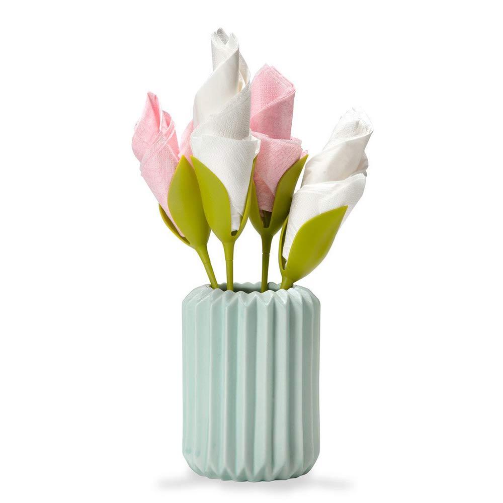 Peleg Design Bloom Napkin Holder Set of 4 (vase not included) | the design gift shop