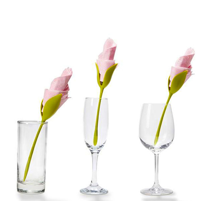 Peleg Design Bloom Napkin Holder (glasses not included) | the design gift shop
