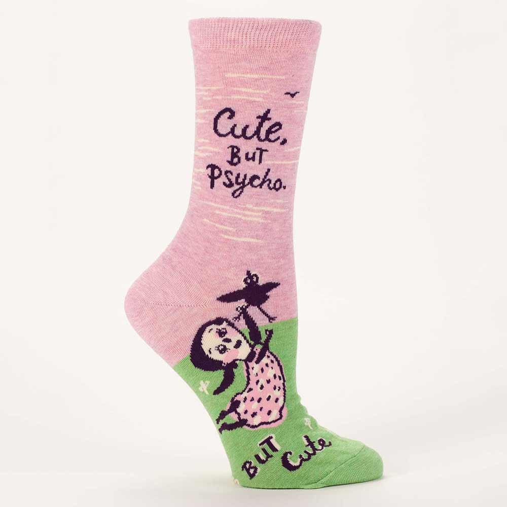 Blue Q Women's Socks 'Cute but Psycho' | the design gift shop