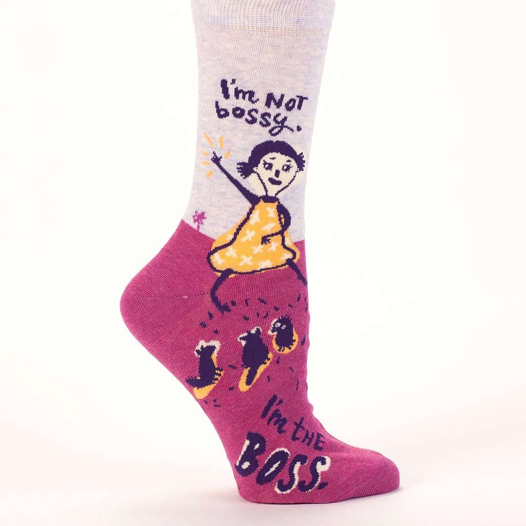 Blue Q Women's socks I'm not bossy. I am the Boss. | the design gift shop
