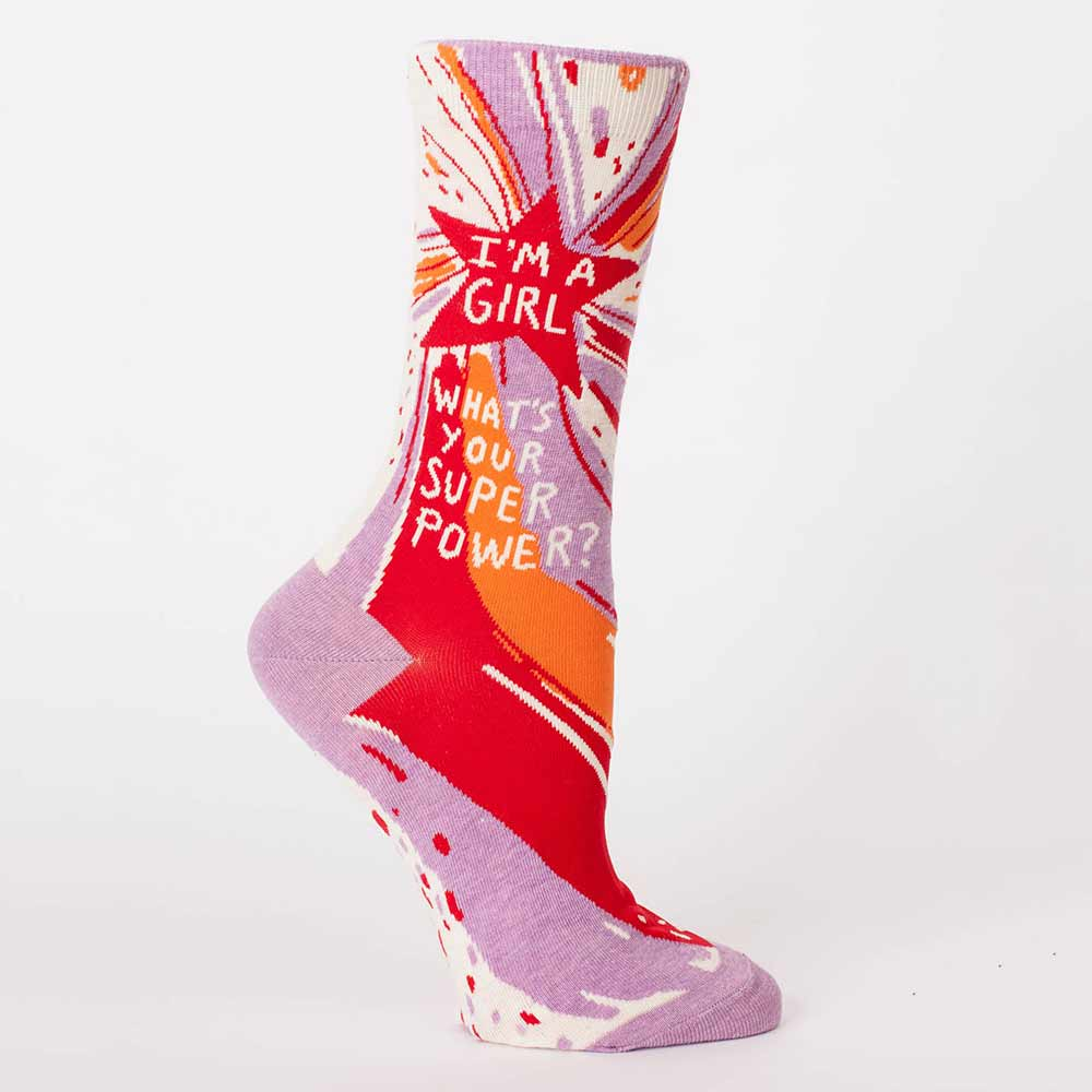 Blue Q Women's Socks 'Superpower' | The Design Gift Shop