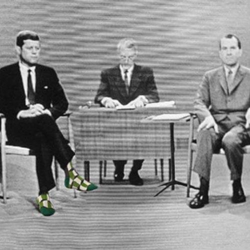 Blue Q Men's Socks 'This Meeting is Bullshit' says JFK| the design gift shop