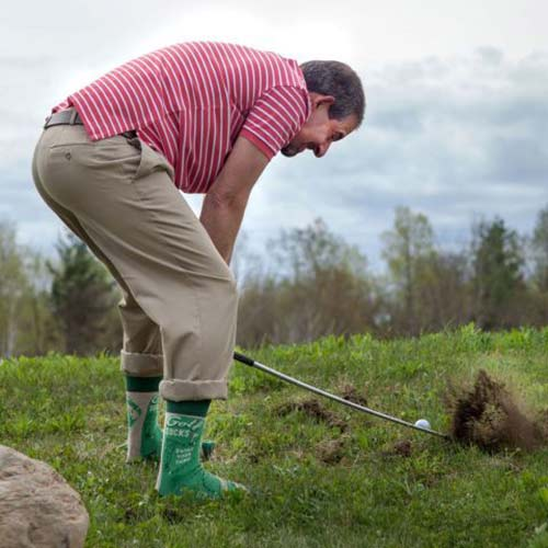 Blue Q Men's Socks 'Golf' in Action | The Design Gift Shop