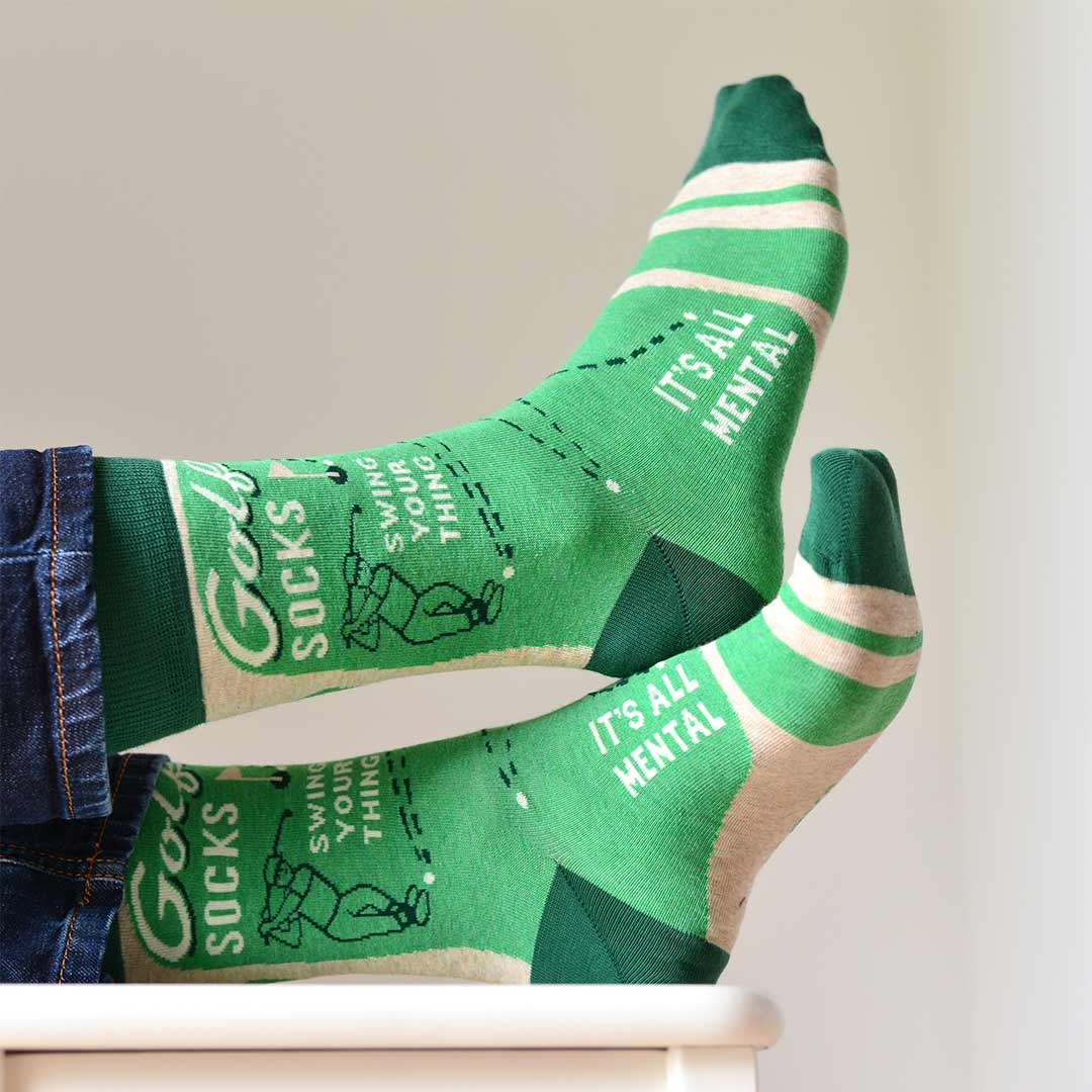 Blue Q Men's Socks 'Golf' | The Design Gift Shop