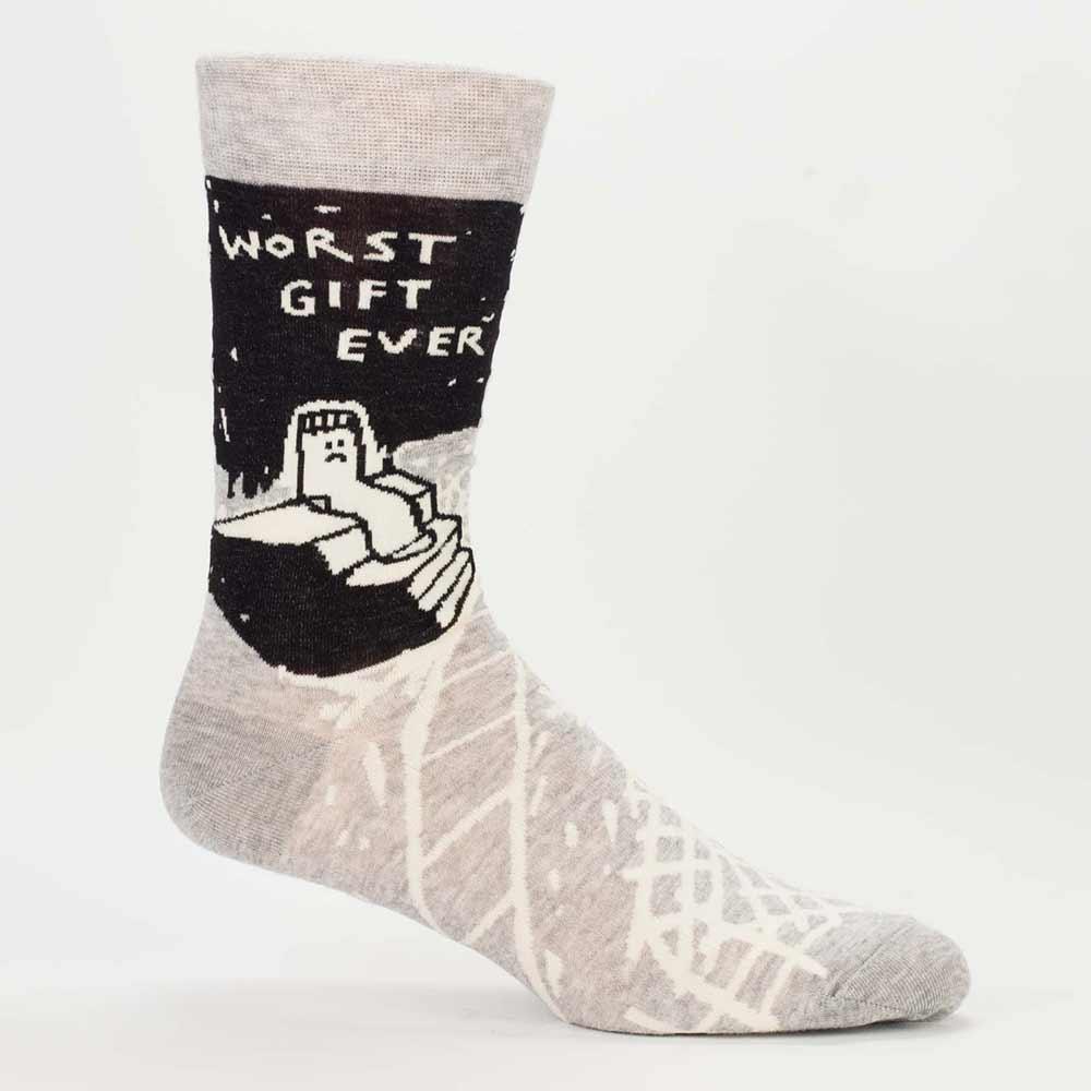 Blue Q Men's Socks 'Worst Gift Ever'   The Design Gift Shop